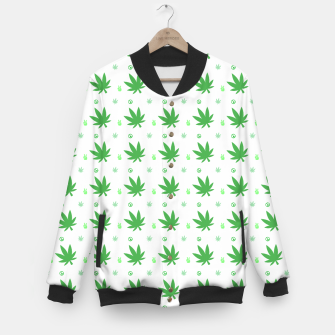 Thumbnail image of Smoking Peace Baseball Jacket, Live Heroes