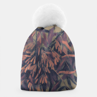 Thumbnail image of Ash-tree in olive, brown & blush Beanie, Live Heroes