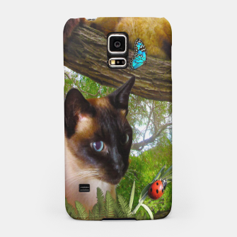 Thumbnail image of Siamese Sophie playing with ladybird Samsung Case, Live Heroes