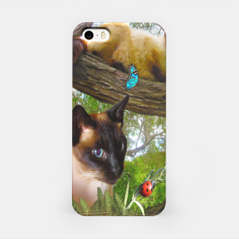 Thumbnail image of Siamese Sophie playing with ladybird iPhone Case, Live Heroes