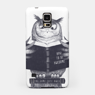 Miniatur Wise Owl Samsung Case, Live Heroes