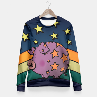 Thumbnail image of Peter the magic pig Fitted Waist Sweater, Live Heroes