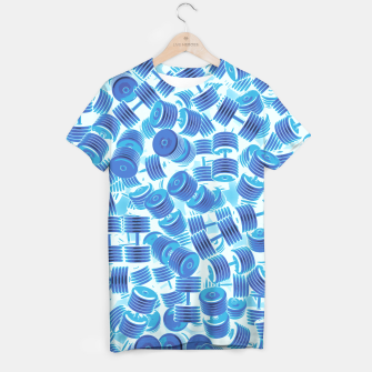 Thumbnail image of Dumbbell Camo BLUE T-shirt, Live Heroes