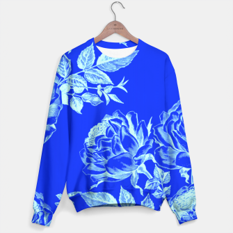 Florescent Blue Roses  Sweater thumbnail image
