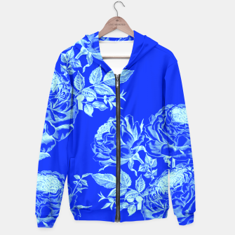 Thumbnail image of Florescent Blue Roses  Hoodie, Live Heroes