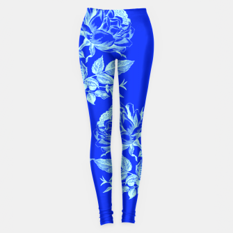 Florescent Blue Roses  Leggings thumbnail image