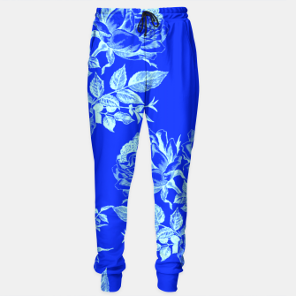 Florescent Blue Roses  Sweatpants thumbnail image