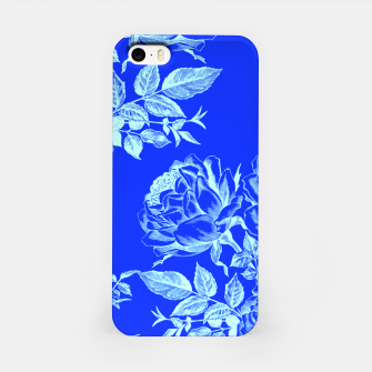 Florescent Blue Roses  iPhone Case thumbnail image