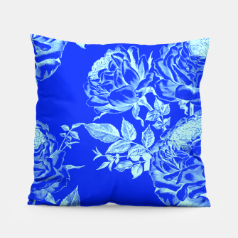 Florescent Blue Roses  Pillow thumbnail image