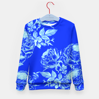 Thumbnail image of Florescent Blue Roses  Kid's Sweater, Live Heroes
