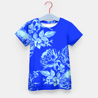 Thumbnail image of Florescent Blue Roses  Kid's T-shirt, Live Heroes