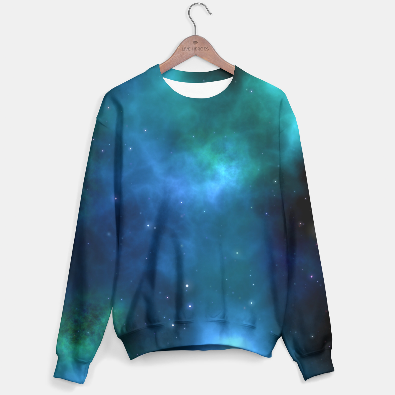 Image of Blue Turquoise Galaxy  Sweater - Live Heroes