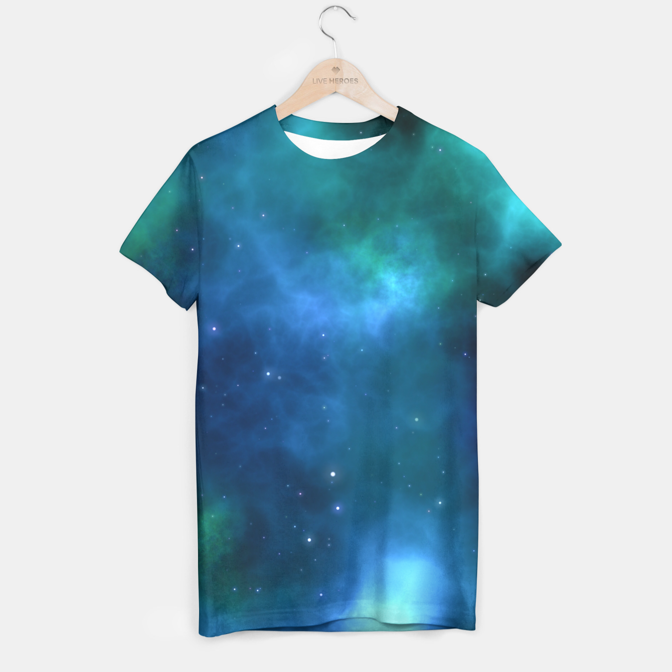 Image of Blue Turquoise Galaxy  T-shirt - Live Heroes
