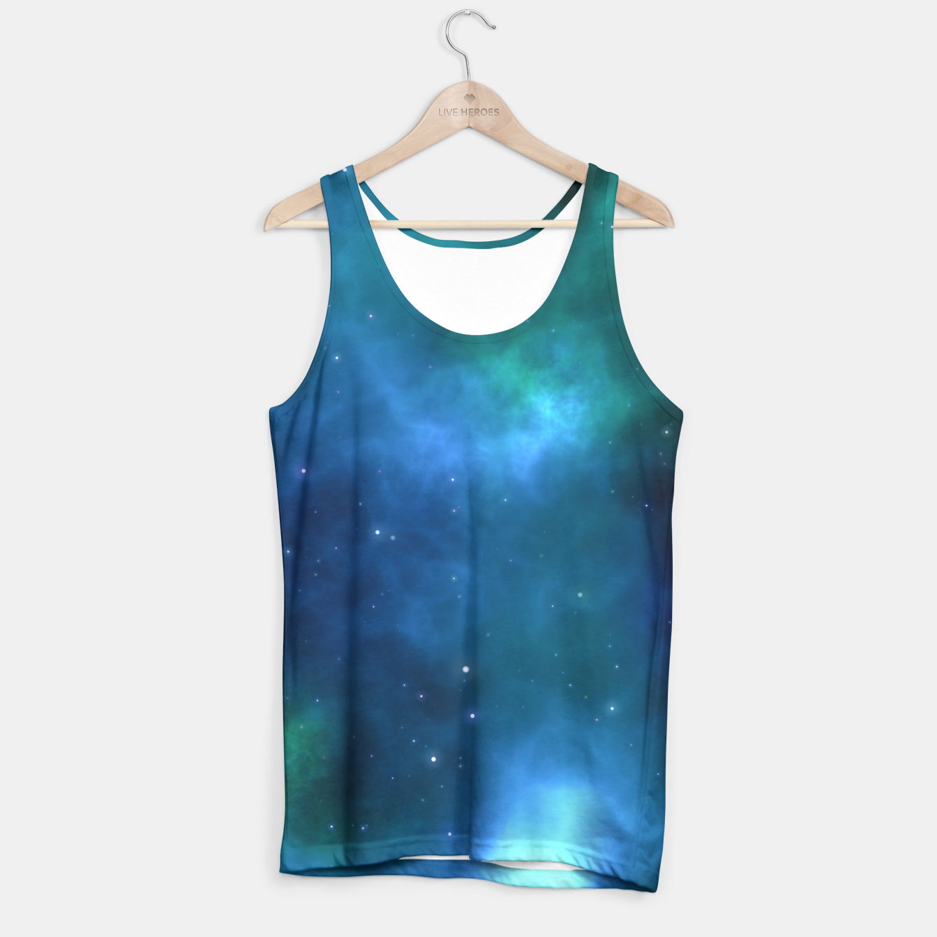 Image of Blue Turquoise Galaxy  Tank Top - Live Heroes