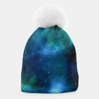 Thumbnail image of Blue Turquoise Galaxy  Beanie, Live Heroes