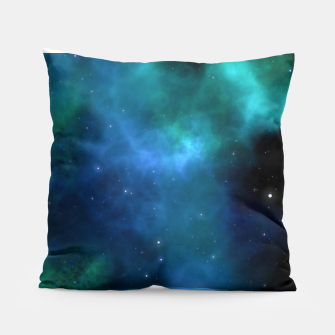 Blue Turquoise Galaxy  Pillow thumbnail image
