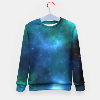 Thumbnail image of Blue Turquoise Galaxy  Kid's Sweater, Live Heroes
