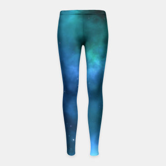 Blue Turquoise Galaxy  Girl's Leggings thumbnail image