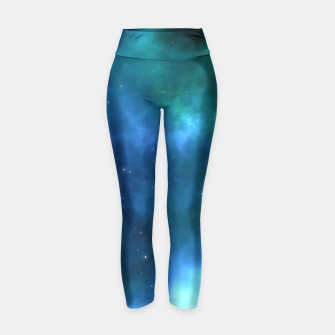 Thumbnail image of Blue Turquoise Galaxy  Yoga Pants, Live Heroes