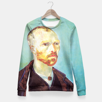 Miniatur Vincent van Gogh-dedicated to Paul Gauguin Fitted Waist Sweater, Live Heroes