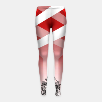 Thumbnail image of YzziCons Domain Girl's Leggings, Live Heroes