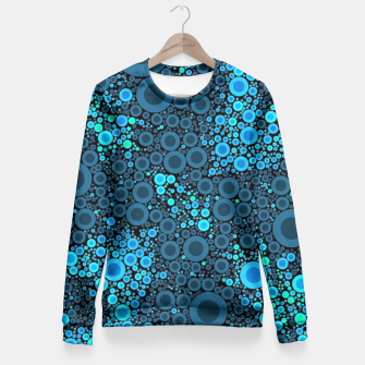 Thumbnail image of Blue Turquoise Abstract  Fitted Waist Sweater, Live Heroes