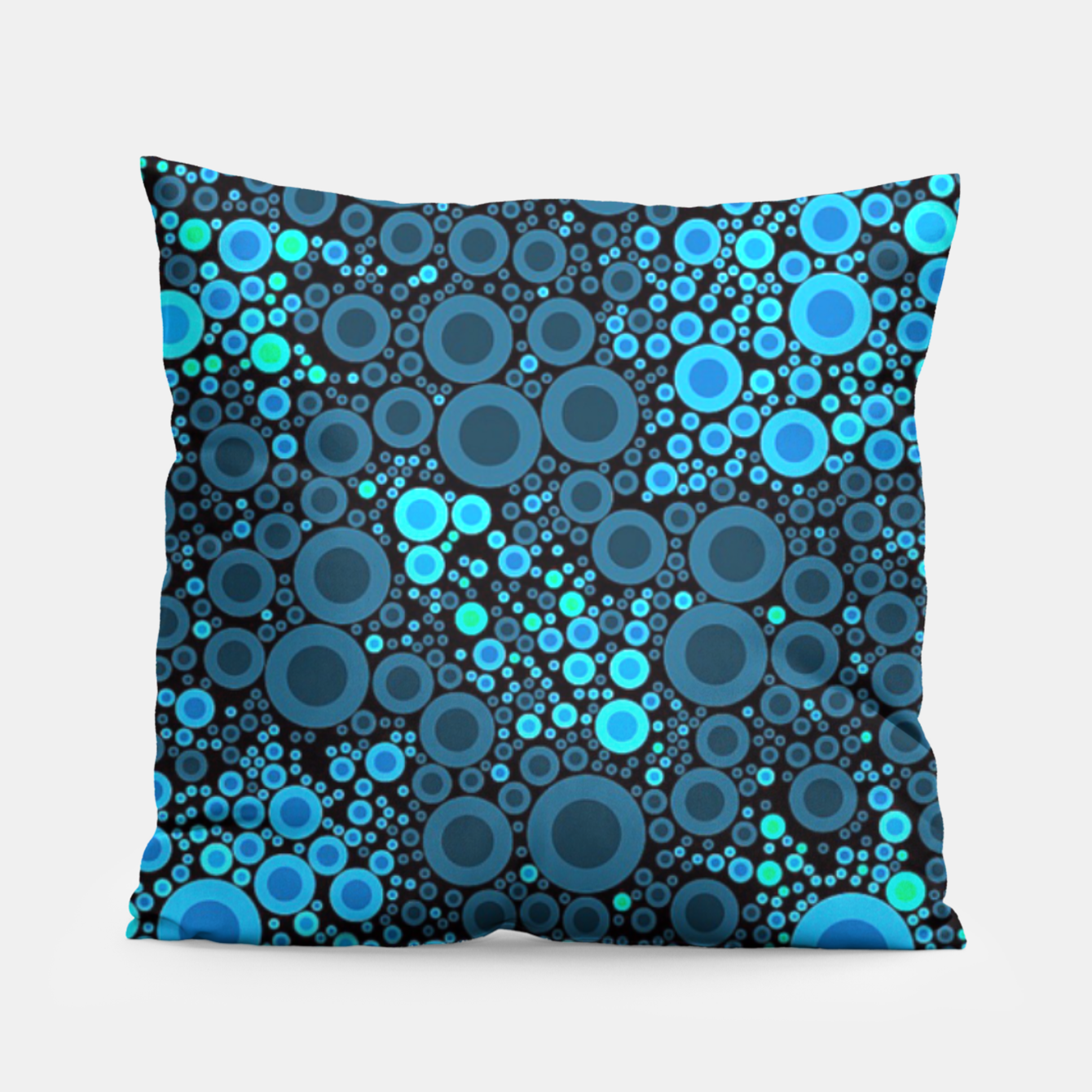Image of Blue Turquoise Abstract  Pillow - Live Heroes