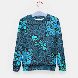 Thumbnail image of Blue Turquoise Abstract  Kid's Sweater, Live Heroes