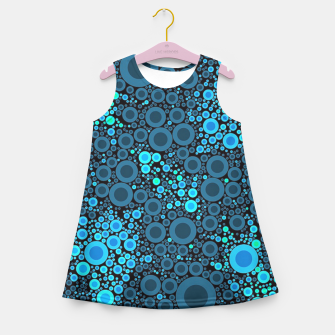 Thumbnail image of Blue Turquoise Abstract  Girl's Summer Dress, Live Heroes