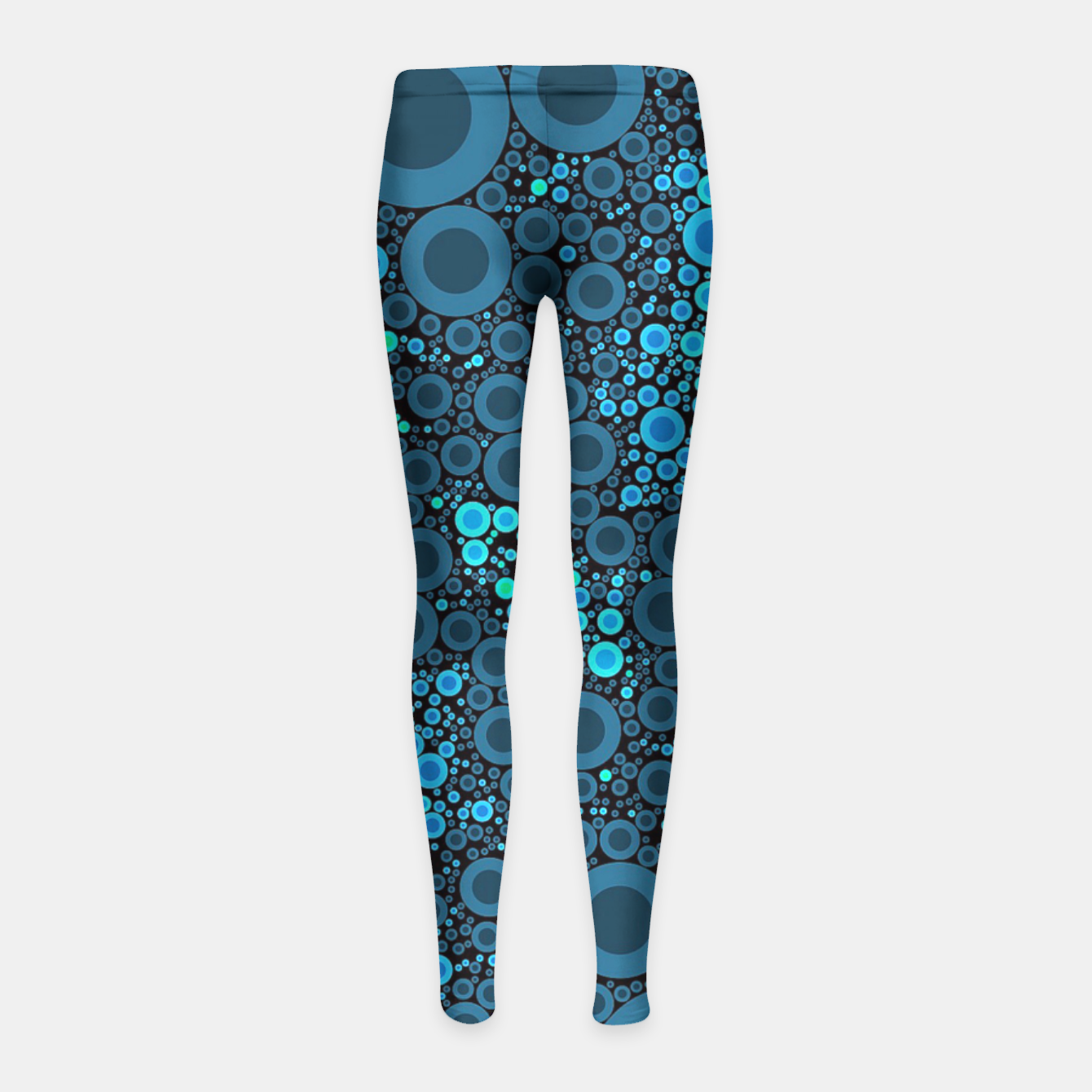 Image of Blue Turquoise Abstract  Girl's Leggings - Live Heroes