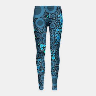 Thumbnail image of Blue Turquoise Abstract  Girl's Leggings, Live Heroes
