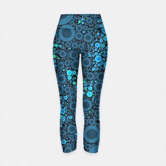 Thumbnail image of Blue Turquoise Abstract  Yoga Pants, Live Heroes