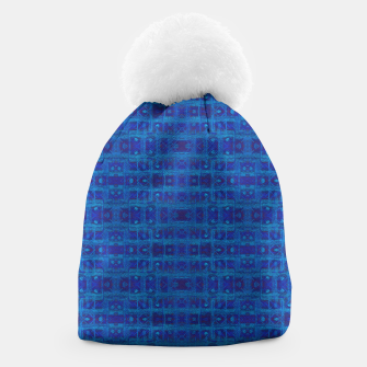Thumbnail image of Blue Sapphire Weave Beanie, Live Heroes