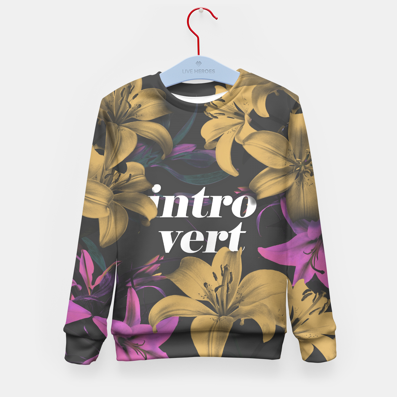 Image of Introvert Kid's Sweater - Live Heroes
