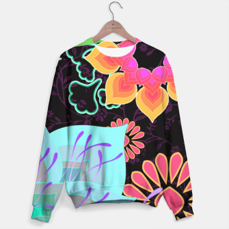Thumbnail image of ABSTRACT GARDEN. TURQUOISE Sudadera, Live Heroes