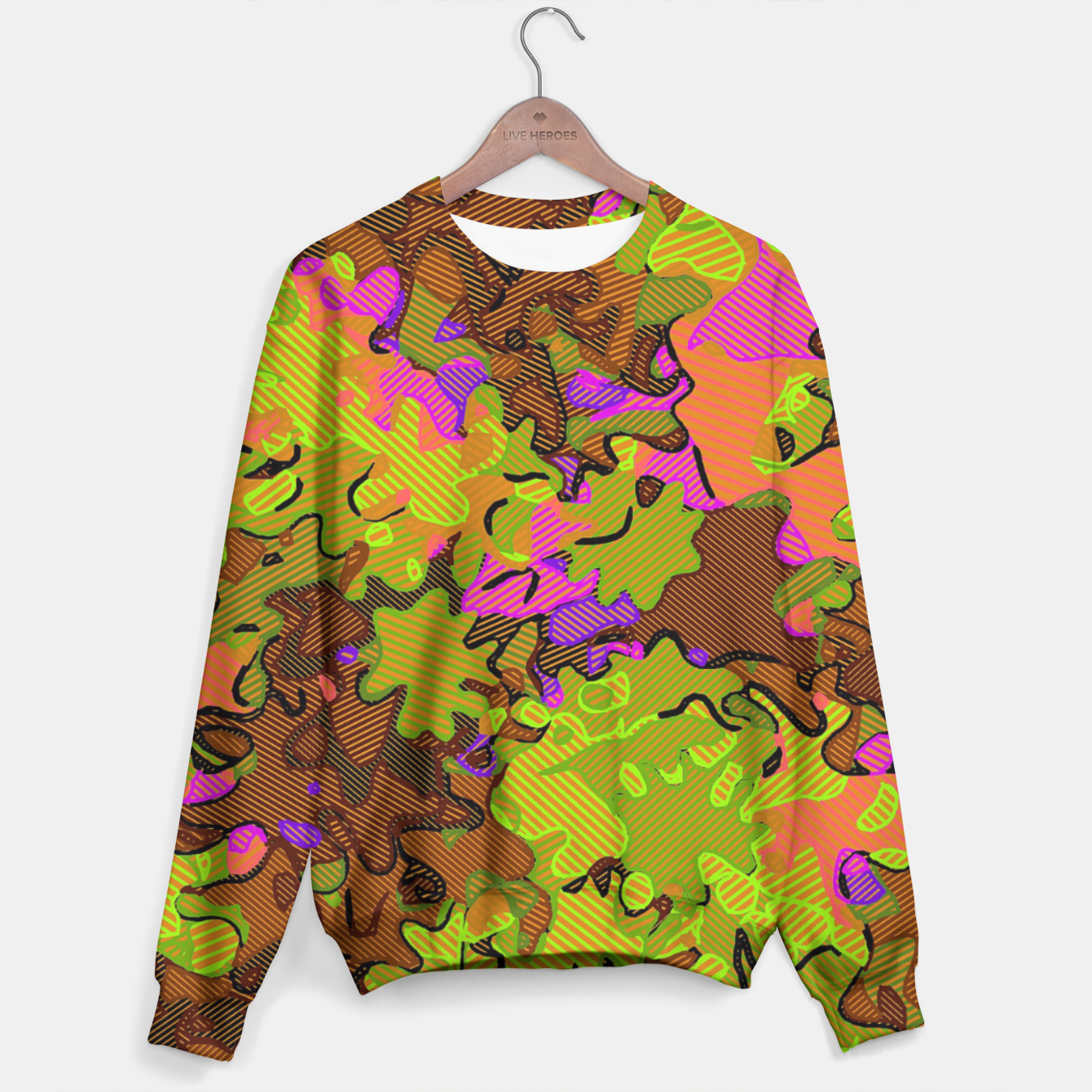 Image of Florescent Camouflage  Sweater - Live Heroes