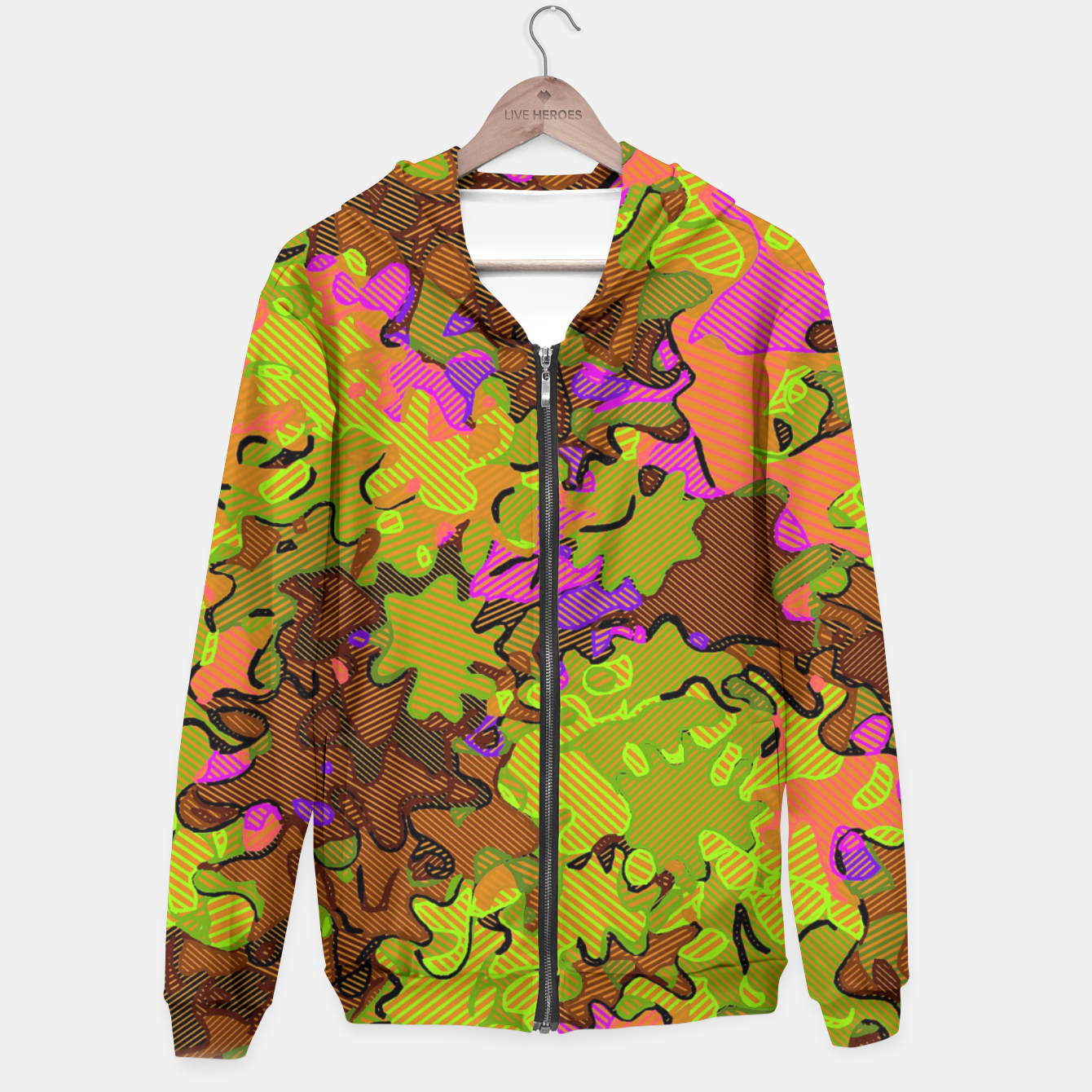 Image of Florescent Camouflage  Hoodie - Live Heroes