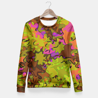 Thumbnail image of Florescent Camouflage  Fitted Waist Sweater, Live Heroes