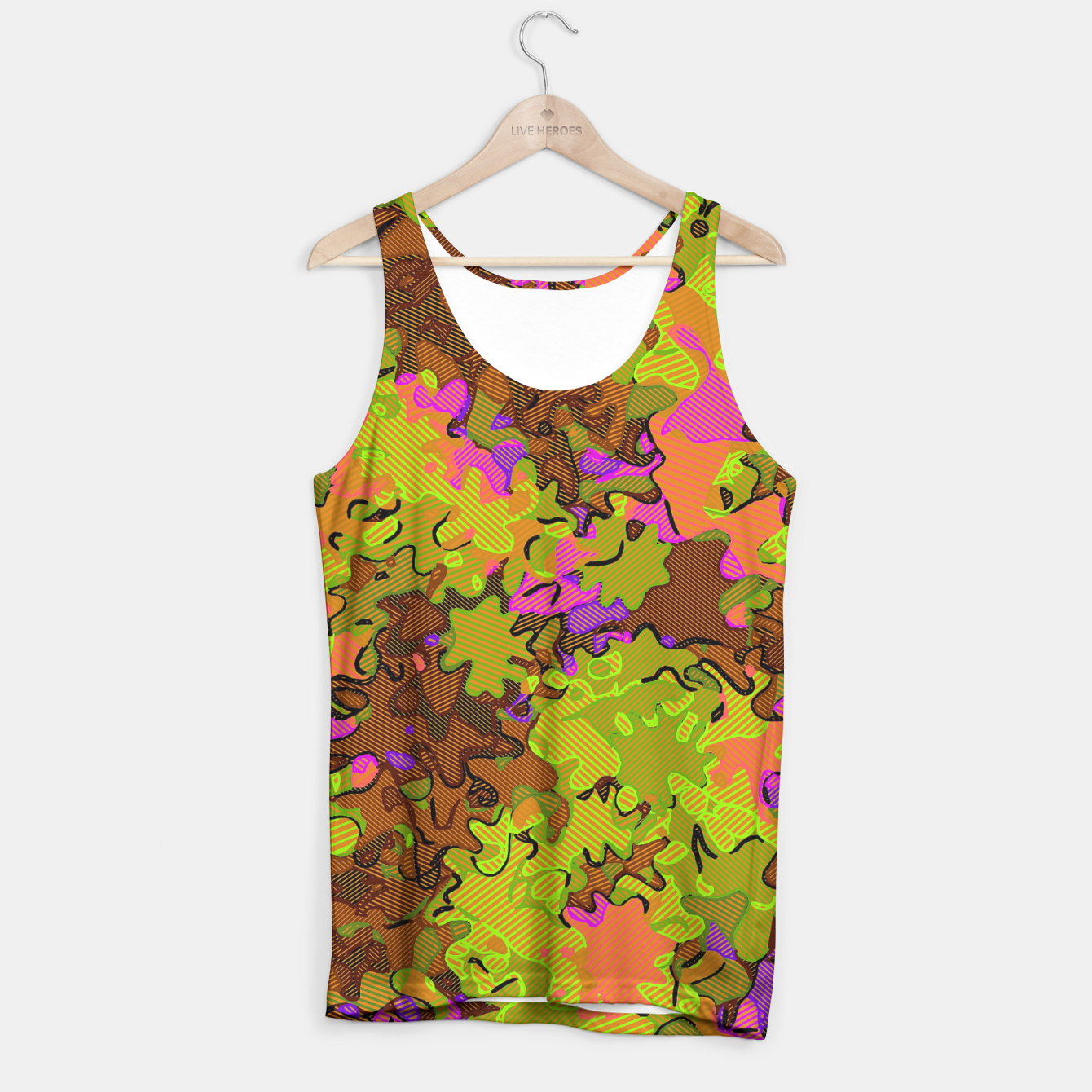Image of Florescent Camouflage  Tank Top - Live Heroes