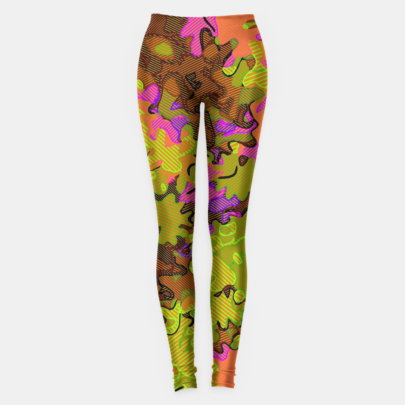 Image of Florescent Camouflage  Leggings - Live Heroes
