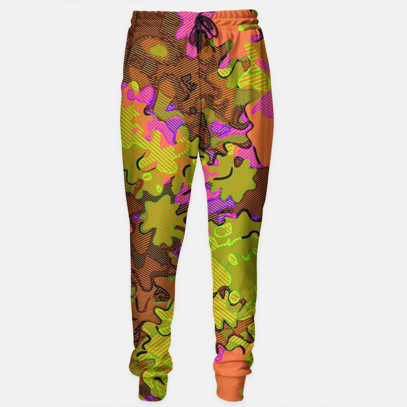 Image of Florescent Camouflage  Sweatpants - Live Heroes