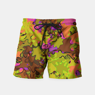 Thumbnail image of Florescent Camouflage  Swim Shorts, Live Heroes