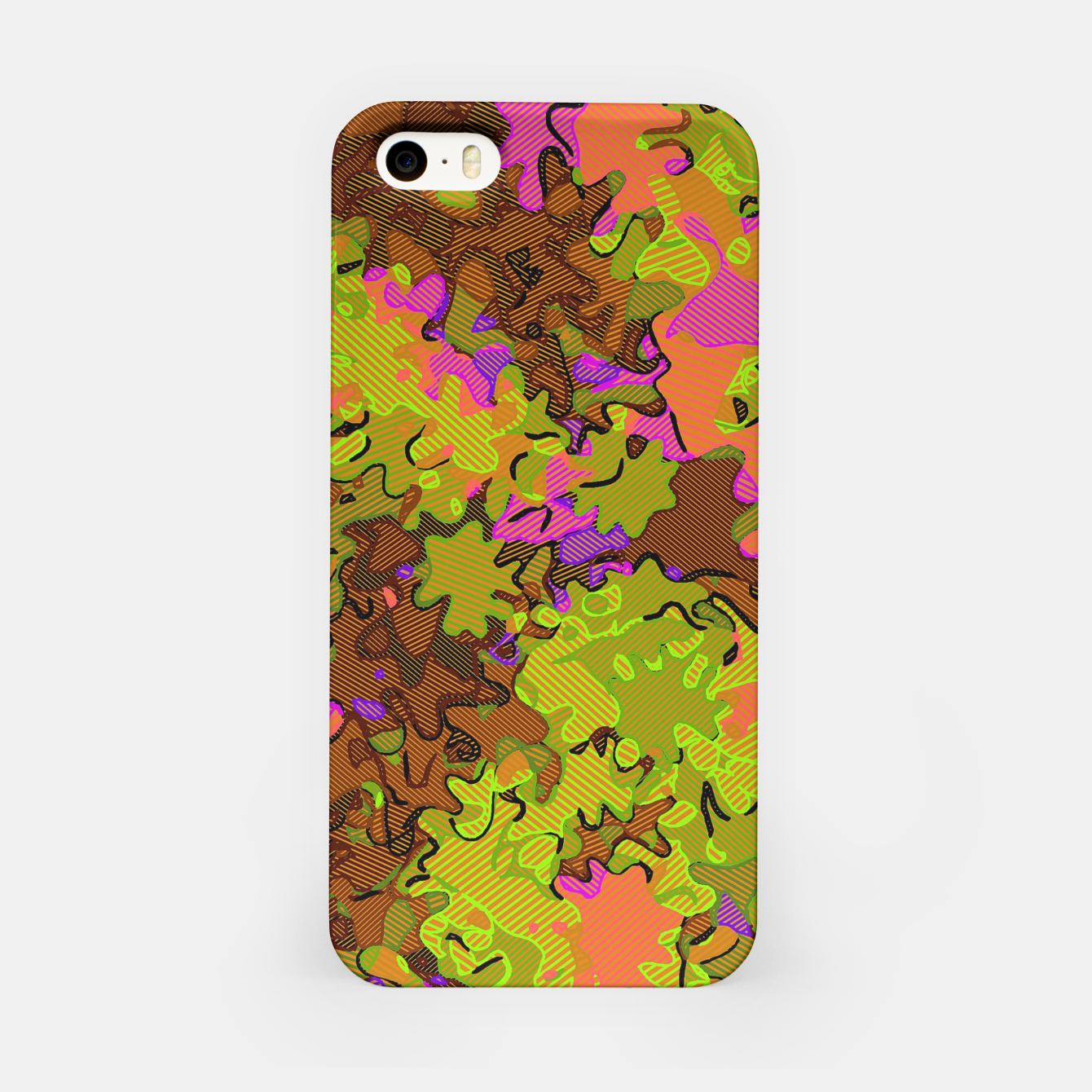 Image of Florescent Camouflage  iPhone Case - Live Heroes