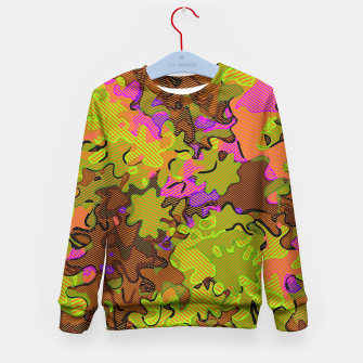 Thumbnail image of Florescent Camouflage  Kid's Sweater, Live Heroes