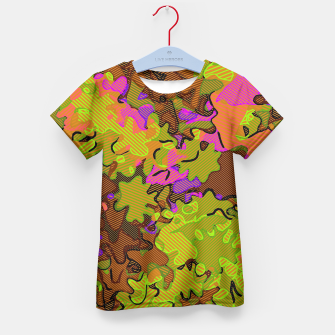 Thumbnail image of Florescent Camouflage  Kid's T-shirt, Live Heroes