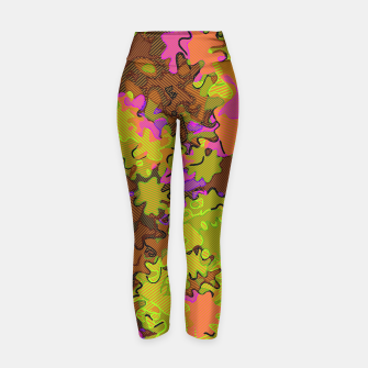 Thumbnail image of Florescent Camouflage  Yoga Pants, Live Heroes