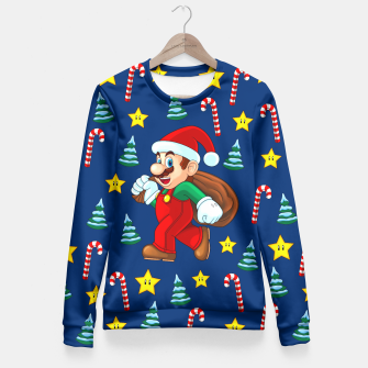 Miniaturka Xmas Mario 2 Fitted Waist Sweater, Live Heroes