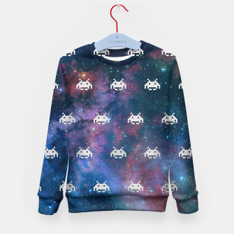 Thumbnail image of Retro Invaders Kid's Sweater, Live Heroes