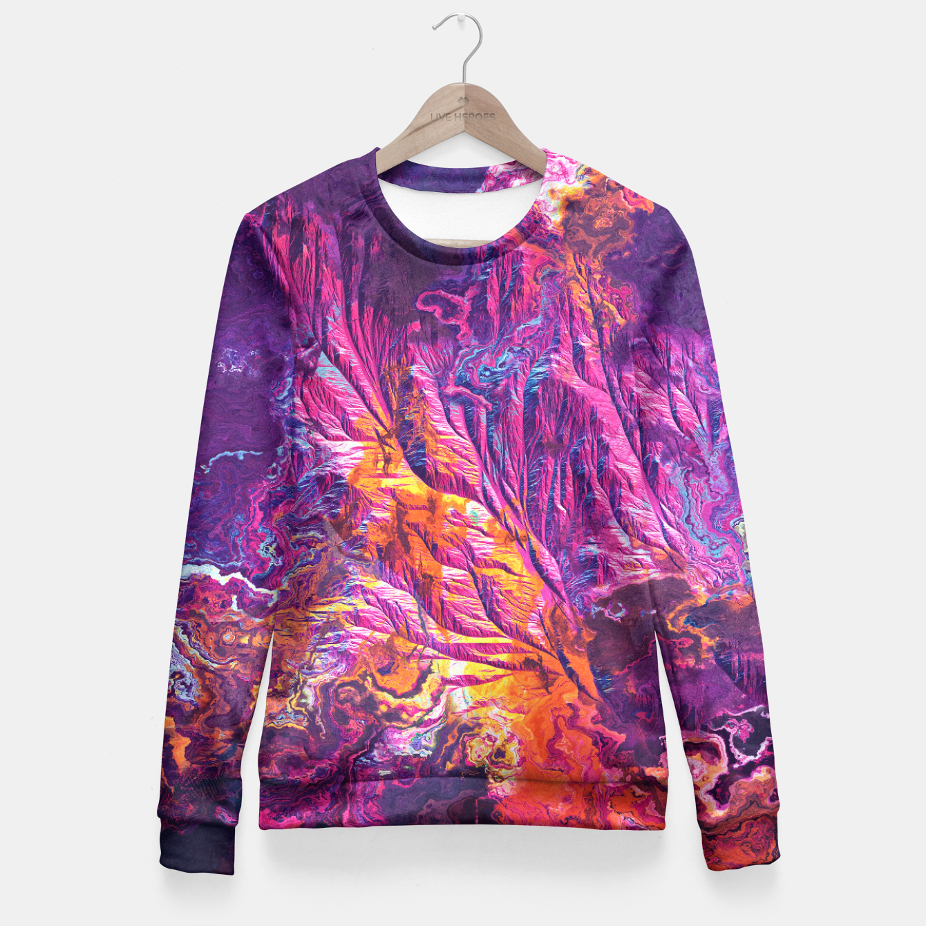 Image of Embers Fitted Waist Sweater - Live Heroes