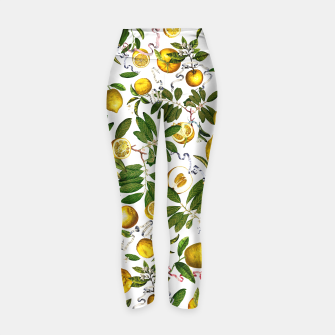 Thumbnail image of Lemon Tree white Yoga Pants, Live Heroes